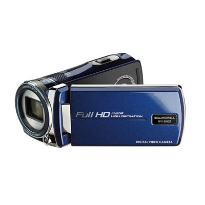 Cinema DV12HDZ-BL 1080p Full HD 10x Opt Zoom 3-Inch LCD Video Camcorder - Blue