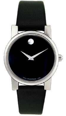 0604230 - Men's Moderna Black Leather & Dial