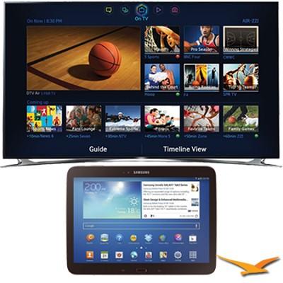 UN65F8000 - 65` 1080p 240hz 3D Smart Wifi LED HDTV - 10.1` Galaxy Tab 3 Bundle