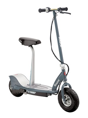 E300S Seated Electric Scooter - Gray - 13116214 - OPEN BOX