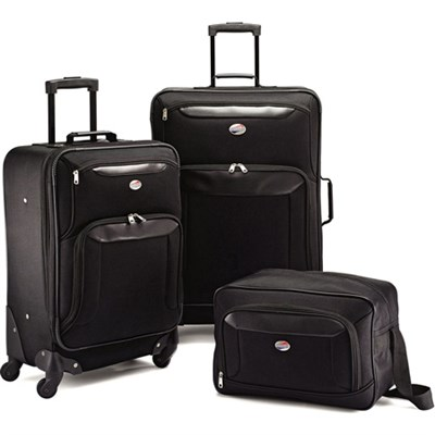 Brookfield Blk 3 Piece Set (21` Spinner, 25` Spinner, Boarding Bag) - OPEN BOX