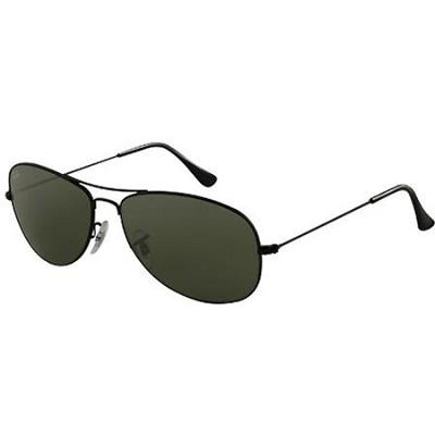 Cockpit Sunglasses Black Frame -Grey lens 59MM