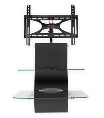 Blackhawk Wall Mounted Flat Panel TV Stand - Up to 42` ( Black)