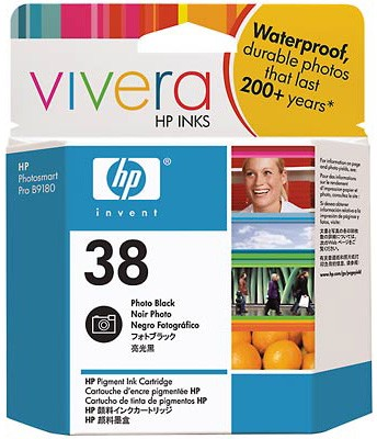#38 Photo Black Pigment Ink Cartridge with Vivera Inks
