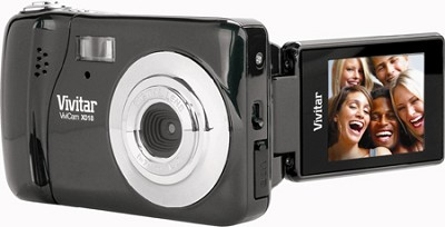 ViviCam iTwist X018 10.1 MP Flip Screen HD Digital Camera (Black)