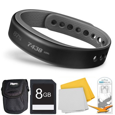 vivosmart Bluetooth Fitness Band Activity Tracker - Small - Slate Deluxe Bundle