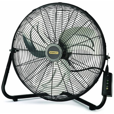 Stanley 655650 20-Inch High Velocity Floor or Wall mount Fan - Black