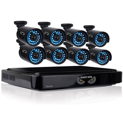 HD 720p 16 Channel AHD Security System, 8x720p Cameras, 100ft Night Vision