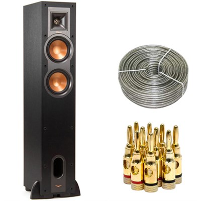 R-24F Dual 4.5-inch Floorstanding Speaker - 1060674 w/ Wire & Plugs