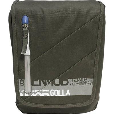 G1268 DSLR Camera Bag Shoulder Bag - Green/Blue Lining