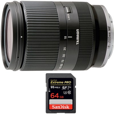 18-200mm Di III VC for Sony Mirrorless SLR Camera Series with 64GB Card