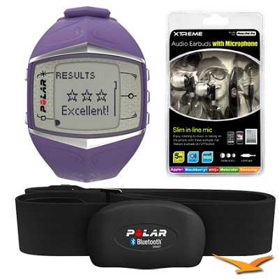 FT60 Heart Rate Monitor - Lilac (90047370) Bundle