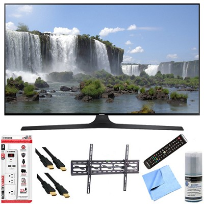 UN60J6300 - 60-Inch Full HD 1080p 120hz Smart LED HDTV Tilt Mount/Hook-Up Bundle