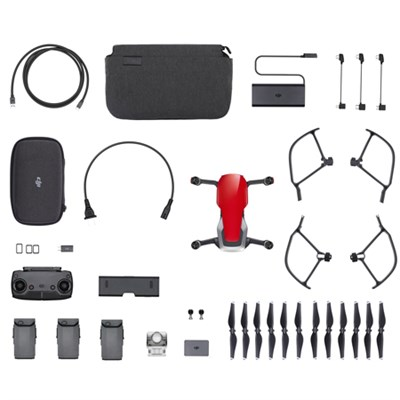 Mavic Air Quadcopter Drone - Flame Red Fly More Combo