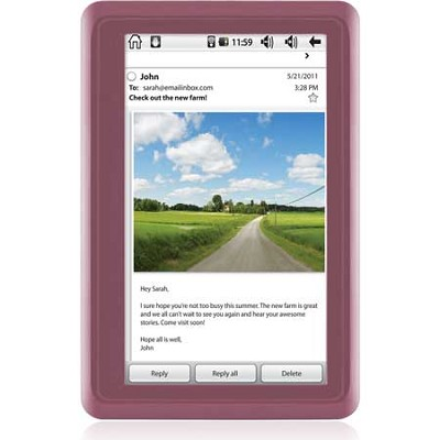 4.3` Touch Screen Android 2.2 Twig 4GB Tablet, Dual Core Processor (Pink)