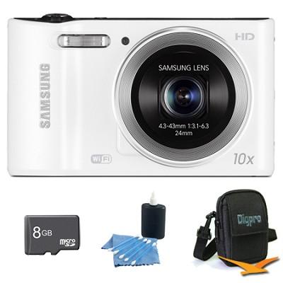 WB30F 16.2 MP 10x optical zoom Digital Camera White 8GB Kit