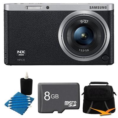 NX Mini Mirrorless Digital Camera with 9-27mm Lens and Flash Black Bundle