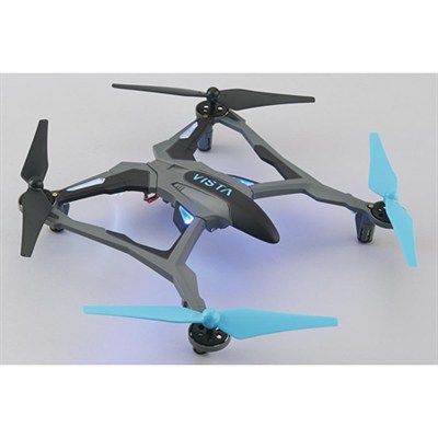 Vista UAV Ready-to-Fly Intense Performance Quadcopter RTF Drone (Blue) DIDE03BB