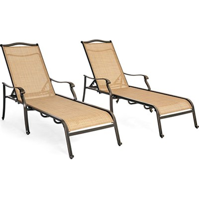 Monaco 2pc Sling Chaise Lounge Chairs