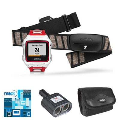 Forerunner 920XT Multisport GPS Watch w/ Heart Rate Monitor - White/Red Bundle