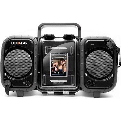 GDI-AQ2SI60 ECOXGEAR Rugged and Waterproof Stereo Boombox - Black