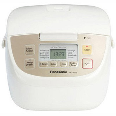 SR-DE103 - Rice Cooker, 5-Cup Uncooked/10-Cup Cooked Rice Capacity