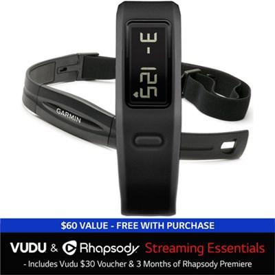 vivofit Fitness Band w/ Heart Rate Monitor + Vudu and Rhapsody Streaming Bundle