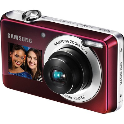 TL205 DualView 12MP 2.7` LCD Plum Red Digital Camera