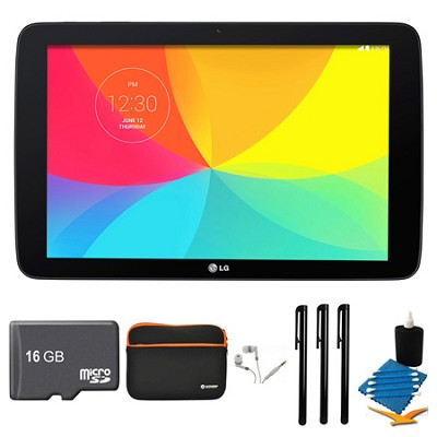 G Pad V 700 16GB 10.1` WiFi Black Tablet, 16GB Card, and Case Bundle