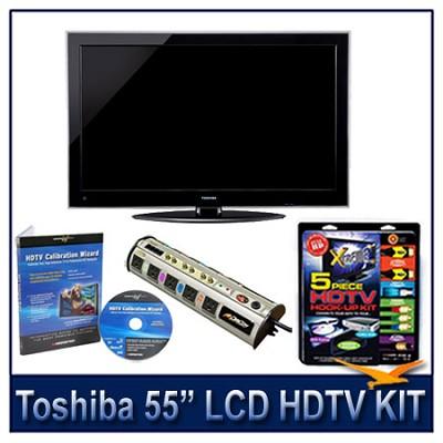 55` 1080p LED HDTV w/ Net TV + Hook-Up + Power Protection + Calibration DVD