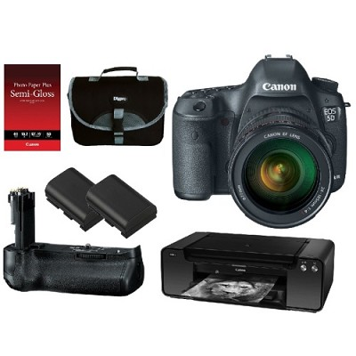 EOS 5D Mark III 22.3 MP Full Frame CMOS Digital SLR w/ 24-105mm Lens Pro Bundle