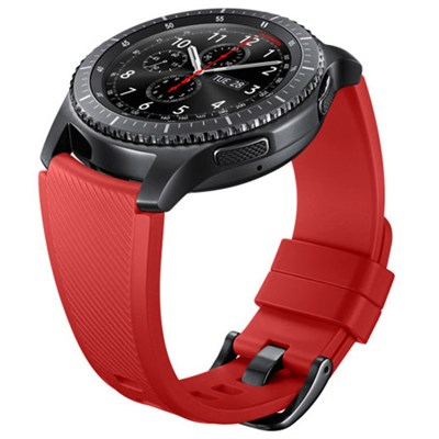 Gear S3 Silicone Replacement Band (22mm) - Orange Red - ETYSU76MREGUS
