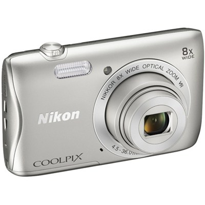 COOLPIX S3700 20.1MP 8x Optical Zoom WiFi Digital Camera - Refurbished
