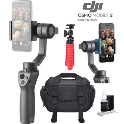 Osmo Mobile 2 Smartphone Gimbal Videographer Bundle With Case Tripod & Lens Kit