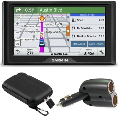 Drive 50 GPS Navigator (US and Canada) - 010-01532-08 Case + Car Charger Bundle