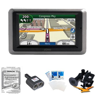 Garmin Zumo 660 Motorcycle GPS With Lifetime Map Updates Essentials Bundle