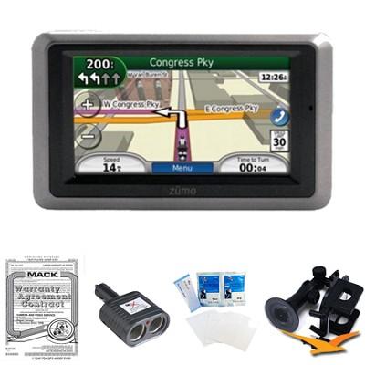 Garmin Zumo 660 Motorcycle GPS With Lifetime Map Updates Essentials Bundle