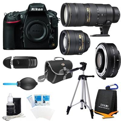 D810 36.3MP 1080p HD DSLR Camera Body w/ 70-200mm, and 1.4x Teleconverter Bundle