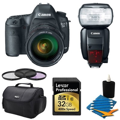EOS 5D Mark III 22.3 MP Full Frame CMOS with 24-105 Lens 32GB Essential Bundle