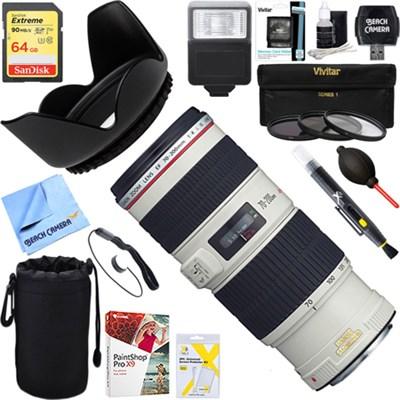 EF 70-200mm f/4L IS USM Lens + 64GB Ultimate Kit