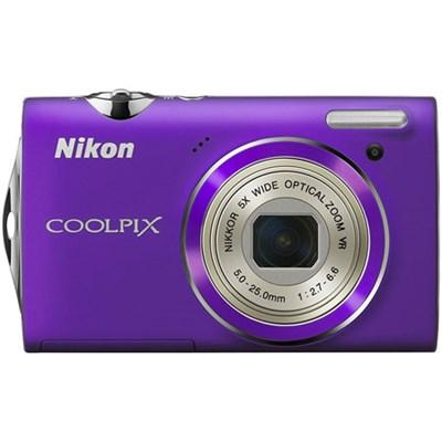 COOLPIX S5100 12MP Slim Purple Digital Camera w/ 720p HD Video - Refurbished