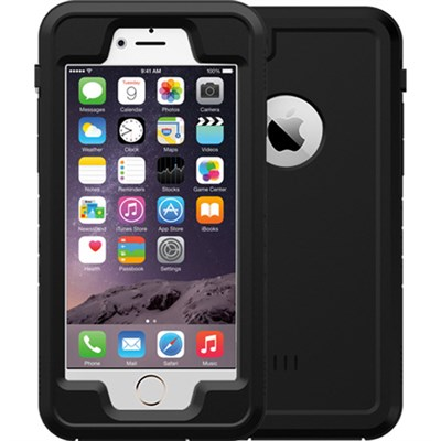 Black 4.7` Shock Resistant Waterproof Case for Apple iPhone 6/6S