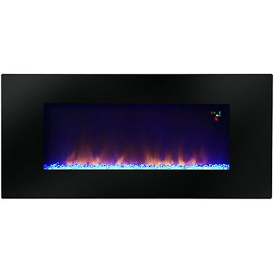 48` Widescreen Wall-Mounted LED Fireplace - P50-10345