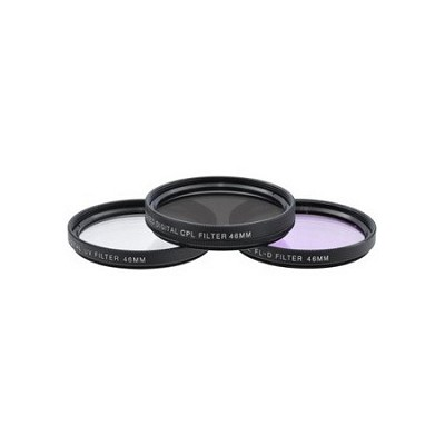 46mm UV, Polarizer & FLD Deluxe Filter kit (set of 3 + carrying case)