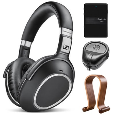 Wireless Noise Cancellation Bluetooth Headphones with Stand Bundle