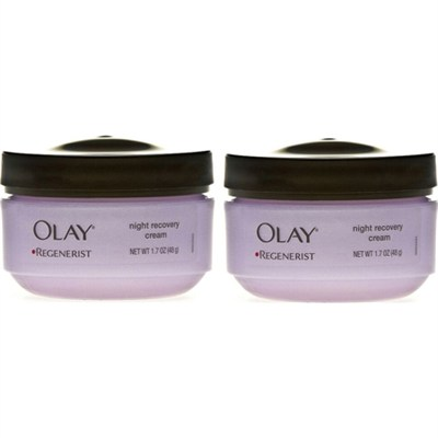 OLAY-7558 Regenerist Night Recovery Cream 1.7 oz. - Purple 2-Pack Bundle