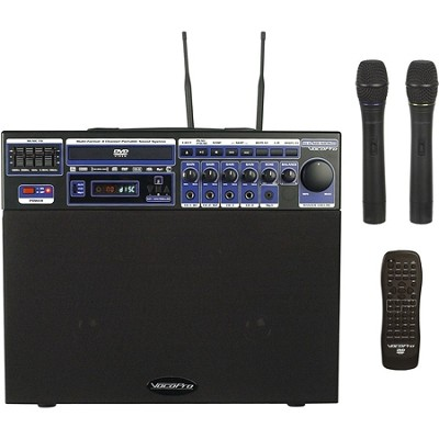 DVD-SOUNDMAN 80W Multi-Format 4 Channel Portable Sound System with 2 Channel Wir