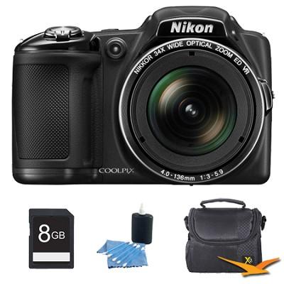 COOLPIX L830 16MP 34x Opt Zoom Digital Camera Black Kit