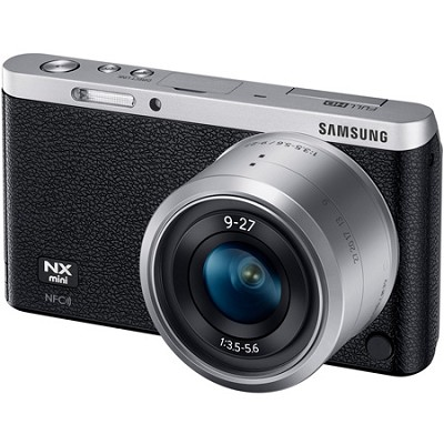 NX Mini Mirrorless Digital Camera with 9-27mm Lens and Flash - Black