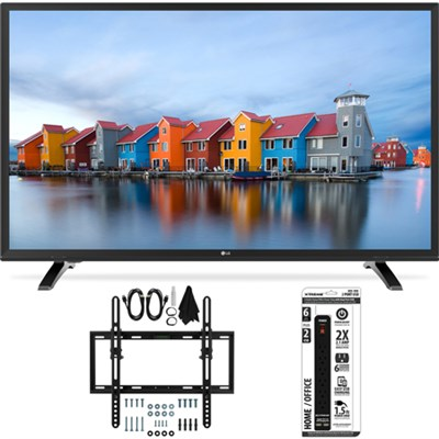 32LH500B 32-Inch HD 720p 60Hz LED TV w/ Flat + Tilt Wall Mount Bundle